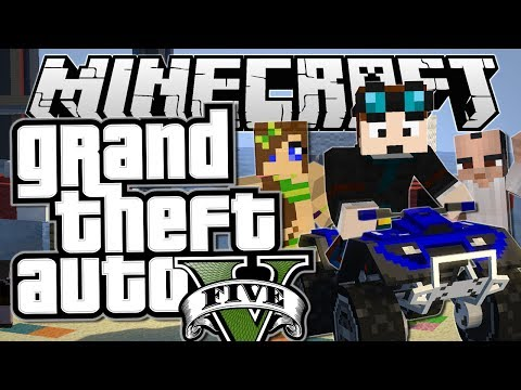 Minecraft | Grand Theft Auto (GTA) | QUAD BIKES, PRANKS & HOBOS | Mods Showcase [Funny Moments]