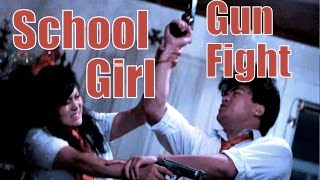 Japanese School Girl Gun Fight : Battle Royale Fan Film