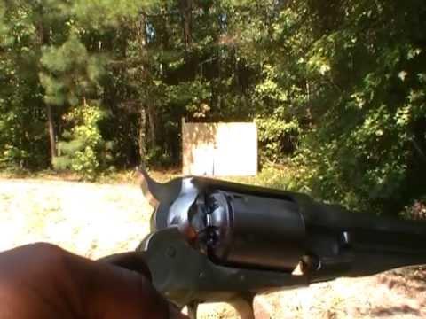 Pietta's Remington 1858 'New Army' Revolver Shooting 1