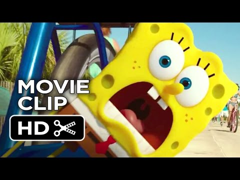 The Spongebob Movie: Sponge Out Of Water Official Movie Clip - Bicycle (2014) - Animated Movie Hd video