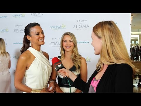Eva LaRue & Daughter Kaya Interview 20th Annual Erasing the Stigma Awards Red Carpet