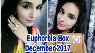 Euphorbia Box December 2017 @248 |  Unboxing & Review  | Free ADS Foundation & Concealer Offer