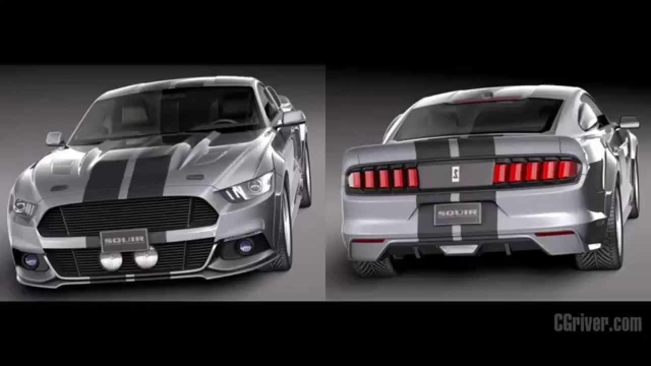 3D Model: Ford Mustang Eleanor 2015 - CGriver.com - YouTube