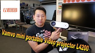 Vamvo Mini L4200 portable projector demo demonstration review