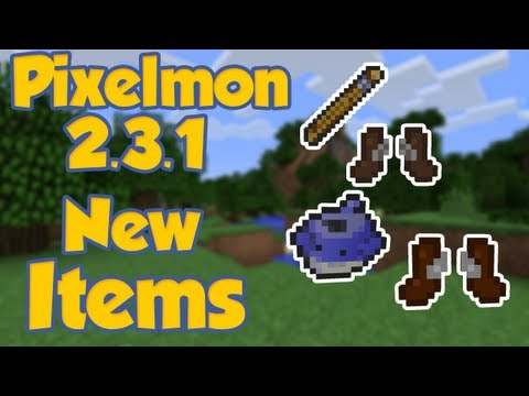 PIxelmon   NEW ITEMS   FISHING ROD RUNNING SHOES WAILMER PAIL *2.3.1*