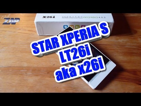 Xperia S LT26i x26i Dualsim Android Phone Review - MT6575 Sony Clone