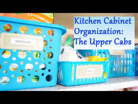 Kitchen Cabinet Organization Ideas: The Upper Cabs