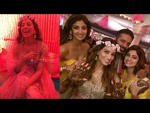 Bollywood At Bipasha Basu-Karan Singh Grover Mehendi Ceremony