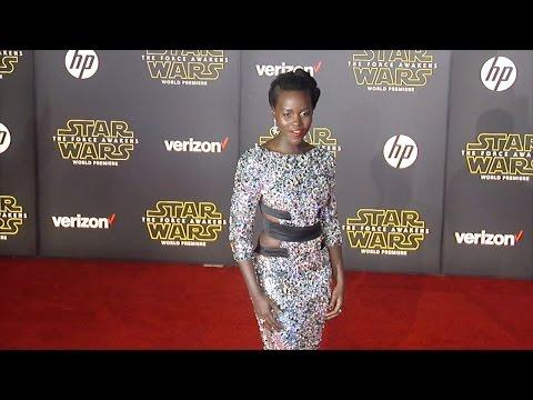 "Lupita Nyong'o ""Star Wars The Force Awakens"" World Premiere"