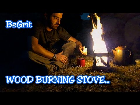 BeGrit!!! wood burning stove,UNBOXING and FIELD REVIEW, While brewing some COFFEE OUTDOORS...