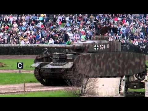 Tankfest 2011 WW2 German Panzer III +Panzer IV J tanks driving footage