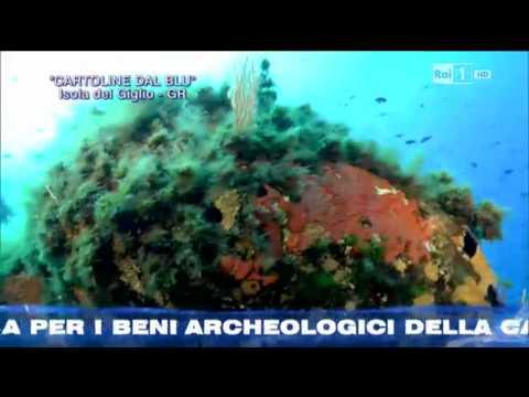 Cartoline dal Blu'-Isola del Giglio. Sigla finale della puntata di Linea Blu' Rai 1 del 27/09/2014 BY Gian Melchiori