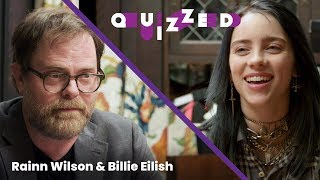 Billie Eilish gets QUIZZED by Rainn Wilson on 'The Office' | Billboard