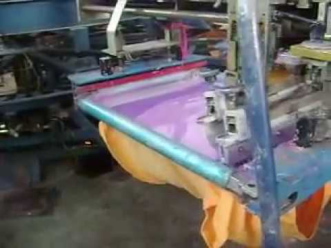 Estampados textiles en maquina automatica
