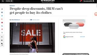 H & M Can't Get Customers To Buy Their Clothing Anymore