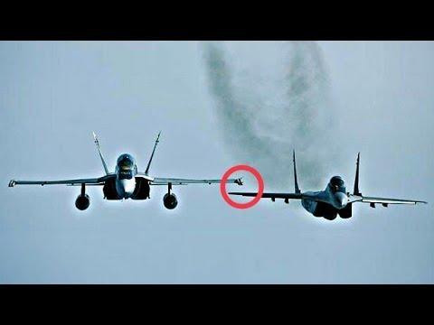 F 18 Intercept Mig 29, Real Dogfight
