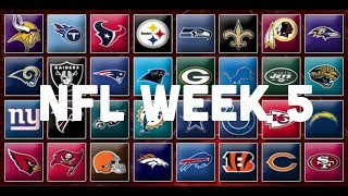 NFL Week 5 Picks & Predictions 2018 | 2019