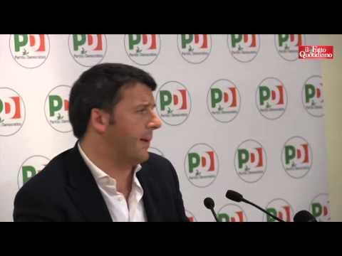 Pd, Matteo Renzi in conferenza dopo incontro con Berlusconi