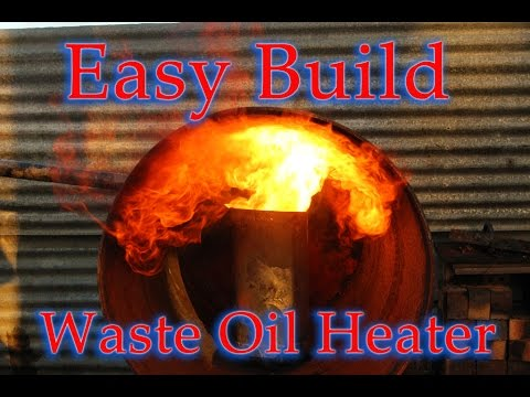 Shed heater, easy Build, powerful output on waste oil.