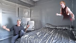 I DUCT TAPED MY BROTHERS ENTIRE ROOM **PRANK WARS LOGAN VS. JAKE**