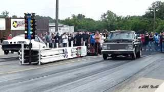 Street Outlaws Chuck  Seitsinger VS Brent Baker  May 2014 mp4