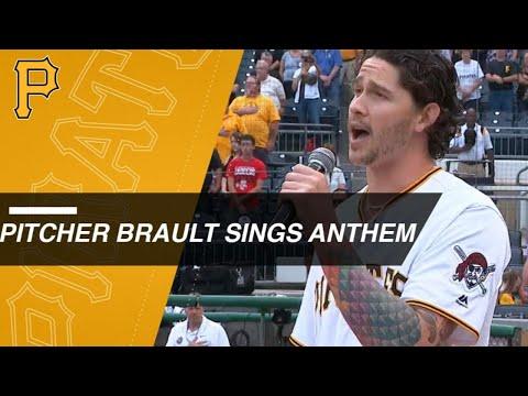 Pirates RP Steven Brault sings anthem at PNC Park