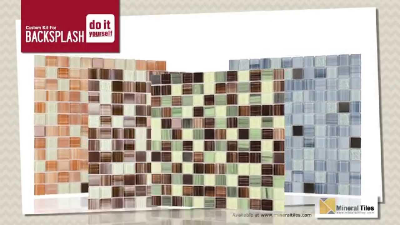 Tile mosaic backsplash