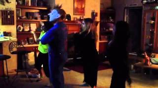 Our kids dressed up on thanksgiving nite dancing to Michael Jackson song