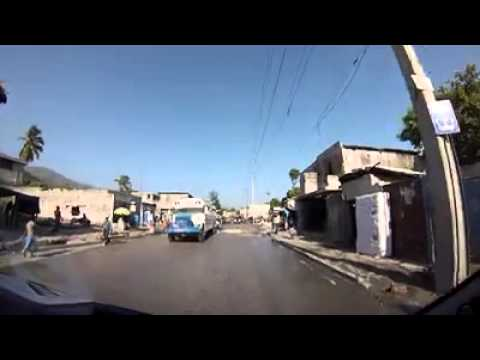 United Nations Police Officers on daily commute through Haiti