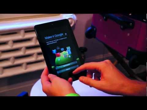 White Nexus 7 with Android 4.1 Jelly Bean (Unboxing)
