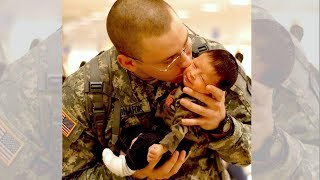 Soldier Meets Baby for First Time Compilation - Try Not To Cry Happy Tears