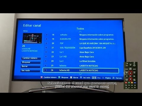 Montar,Instalar y ordenar canales TV Samsung ,[Assemble,install and sort channels on a Samsung TV]