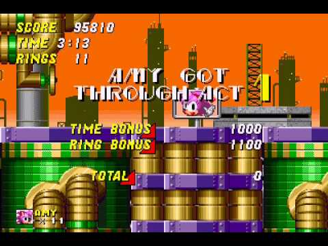 Amy Rose in Sonic the Hedgehog 2 - Vizzed.com GamePlay (rom hack) - User video