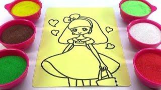 SKIP TO MY LOU!Nhạc TN NƯỚC NGOÀI!Đồ chơi trẻ em TÔ MÀU TRANH CÁT HÌNH CÔNG CHÚA Color Sand Paint
