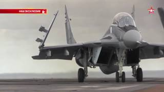 Admiral Kuznetsov in Mediterranean.Take-offs & landings of Su-33 &MIG-29K