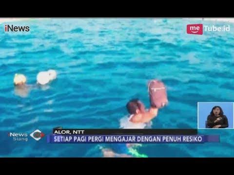 Perjuangan 6 Guru, Seberangi Lautan Demi Mengajarkan Anak-anak di Pulau Buaya - iNews Siang 13/12