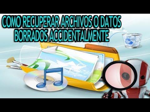 Como Recuperar Datos o Archivos Borrados Accidentalmente MUY FACIL