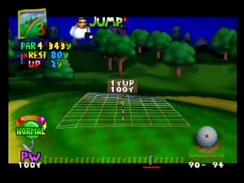 Mario Golf 64 SUDDEN DEATH playoff Maple vs. Metal Mario Albatross BEST SHOT EVER