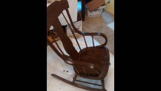 Re staining an antique rocking chair