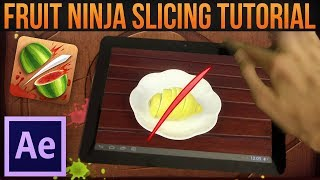 Fruit Ninja Slicing/Cutting Effect│Adobe After Effects Tutorial