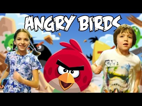 Приколы в парке Angry Birds. Адриан и Света.