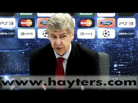 Arsene Wenger Arsenal v Barcelona Post Match Press Conference - 16-FEB-11