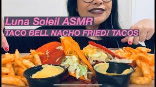 Taco Bell Nacho Fries / Tacos ASMR / Mukbang  목방