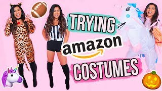 TRYING ON CHEAP HALLOWEEN COSTUMES!!