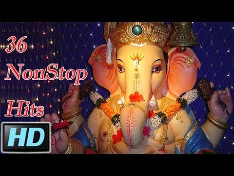 36 Nonstop Superhit Marathi Ganpati Songs video