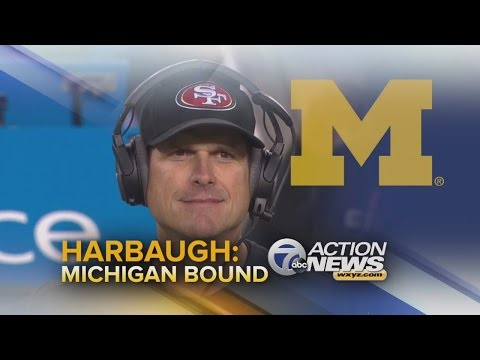 Jim Harbaugh will be announced as Michigan's head football coach at noon Tuesday