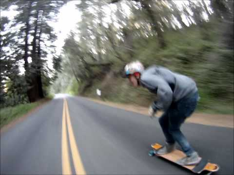Skateboarding in the Santa Cruz Mountains