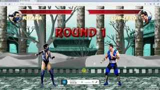 mortal kombat karnage (kitana game play)
