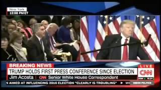 Jim Acosta Degenerate Shabboscuck Punkie &  CNN Jews Are Fake News Says President Elect Trump