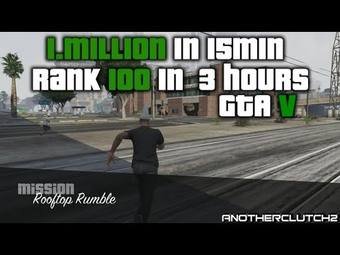 GTA 5 Online Fastest Way To Rank up and get Money! $25.000 Every 50 seconds.  (Grand Theft Auto V)